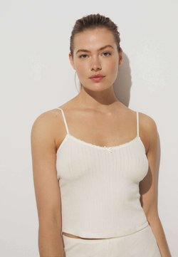 OYSHO - CUTWORK  - Nachtwäsche Shirt - off-white