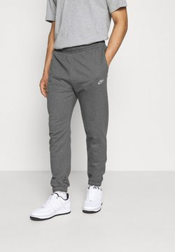Nike Sportswear - CLUB PANT - Jogginghose - charcoal heathr/anthracite/white