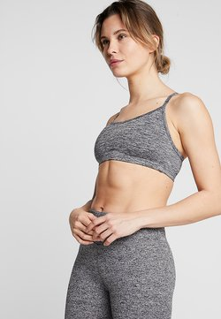 Cotton On Body - WORKOUT YOGA CROP - Sport BH - salt & pepper