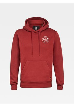 G-Star - ROUND ORIGINALS HOODED LONG SLEEVE - Sweat à capuche - dry red