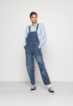 BDG Urban Outfitters - RIP AND REPAIR DUNGAREE - Dungarees - dark vintage