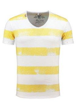 Key Largo - MT AIRFLIGHT - T-Shirt print - offwhiteyellow