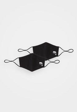KARL LAGERFELD - IKONIK FACE MASK 2 PACK - Stoffmaske - black