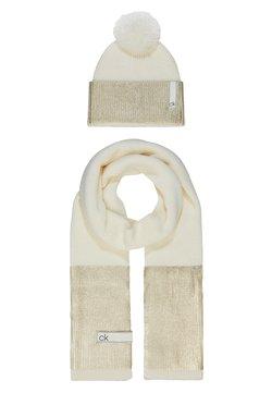 Calvin Klein - LAMINA GIFTBOX  SCARF BEANIE SET - Schal - white