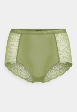 Monki - OMA BRIEF - Pants - khaki/green medium dusty unique