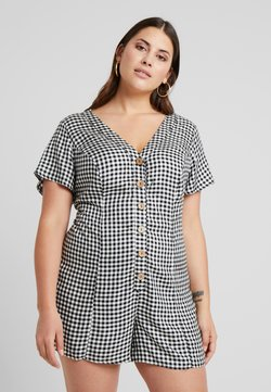 New Look Curves - CURVES GINGHAM - Haalari - black