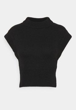 Gina Tricot Petite - MEG VEST - Camiseta básica - black
