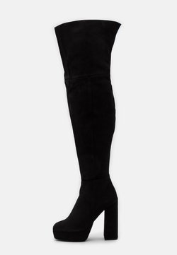 Even&Odd Wide Fit - LEATHER - High Heel Stiefel - black