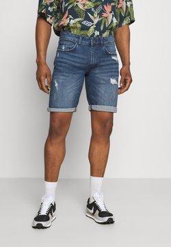 Redefined Rebel - OSLO DESTROY - Jeans Shorts - dark blue