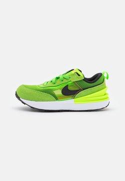 Nike Sportswear - WAFFLE ONE UNISEX - Matalavartiset tennarit - electric green/black/mean green/hyper crimson