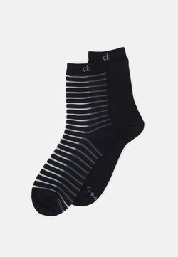 Calvin Klein Underwear - WOMENS SHEER STRIPE SOCK  2 PACK - Socken - black