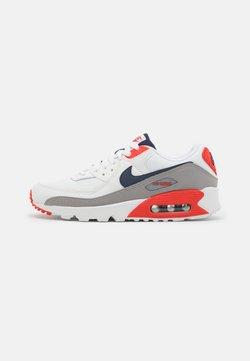 Nike Sportswear - AIR MAX 90 - Matalavartiset tennarit - summit white/thunder blue/cement grey/chile red/white