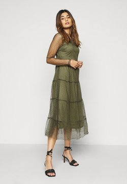 Vero Moda Petite - VMJUANA DRESS - Day dress - deep lichen green/black