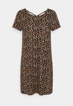 ONLY Petite - ONLBERA BACK LACEUP DRESS - Jerseykleid - black