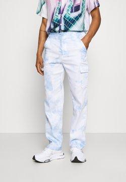 Vintage Supply - PANT IN TIE DYE UNISEX - Reisitaskuhousut - blue