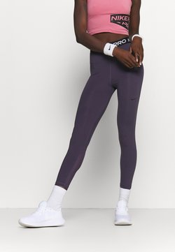 Nike Performance - 7/8 HI RISE - Tights - dark raisin/black