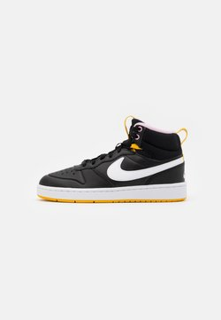 Nike Sportswear - COURT BOROUGH MID  - Sneakers hoog - black/white/dark sulfur/light arctic pink