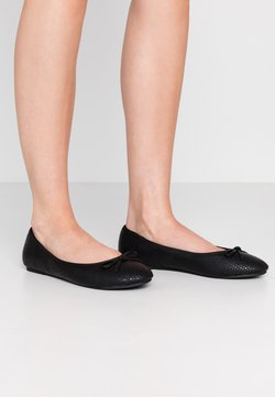 Evans - WIDE FIT WEAVE EMBOSSED  - Ballerina's - black