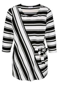 MIAMODA - Langarmshirt - weiß,schwarz