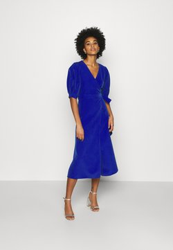 WAL G. - EMILIA WRAP DRESS - Jerseyklänning - eletric blue