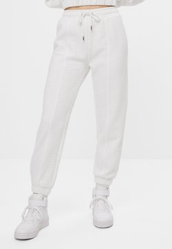 Bershka - Jogginghose - white