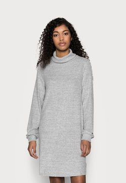 GAP Petite - TURTLENECK DRESS - Neulemekko - light grey marle