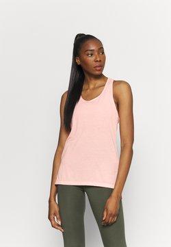 Nike Performance - YOGA LAYER TANK - Sports shirt - arctic orange/heather/orange pearl