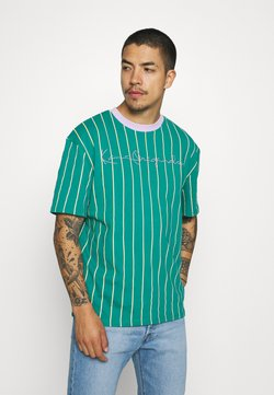 Karl Kani - ORIGINALS PINSTRIPE TEE UNISEX  - T-shirt con stampa - green