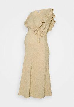 Pieces Maternity - PCMTAMIA DRESS - Vestido largo - almond buff
