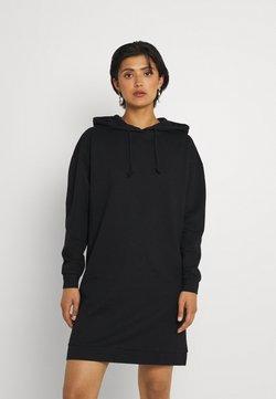 Vero Moda - VMOCTAVIALS HOODIE DRESS - Korte jurk - black