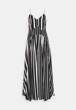 Victoria Beckham - PLEAT DETAIL CAMI DRESS - Robe de cocktail - black/off white