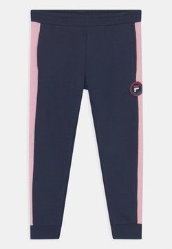 Fila - ISLA UNISEX - Pantalones - black iris/pink mist