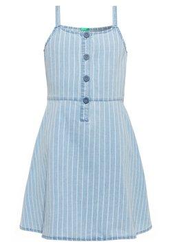Benetton - DRESS - Jeanskleid - light-blue denim
