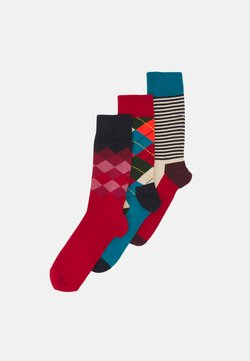 Happy Socks - CLASSICS 3 PACK UNISEX - Socken - multi reds