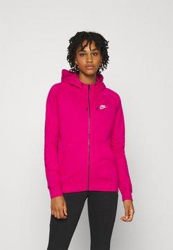 Nike Sportswear - HOODIE - Felpa con zip - fireberry/white
