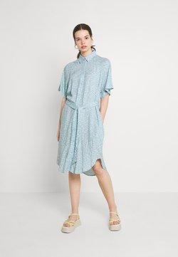 Monki - MIMMI DRESS - Paitamekko - blue dusty light