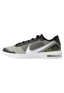 Nike Performance - COURT AIR MAX VAPOR WING MS - Multicourt Tennisschuh - black/white/neon turquoise/hot lime