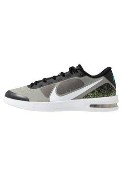 Nike Performance - COURT AIR MAX VAPOR WING MS - Zapatillas de tenis para todas las superficies - black/white/neon turquoise/hot lime