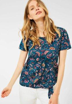 Cecil - MIT PAISLEY - T-Shirt print - blau