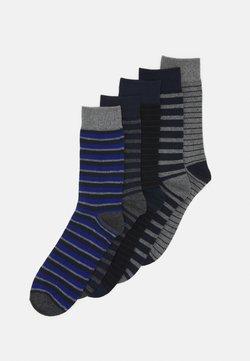 Jack & Jones - JACPORTER SOCKS 5 PACK - Socken - grey melange/black
