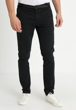 Lindbergh - CLASSIC WITH BELT - Chinos - black