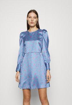 Closet - CLOSET PUFF SLEEVE MINI DRESS - Freizeitkleid - blue