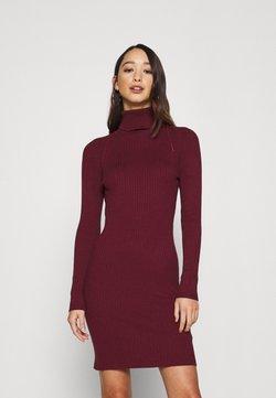 ONLY - ONLELLY ROLLNECK DRESS - Gebreide jurk - tawny port