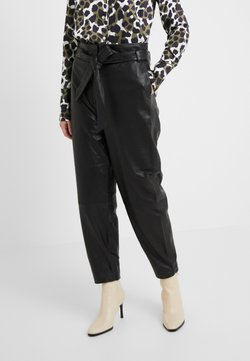 Bruuns Bazaar - PECAN ARISTA PANT - Pantalon en cuir - black