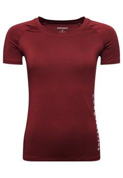 Superdry - TRAINING ESSENTIAL - T-Shirt basic - claret