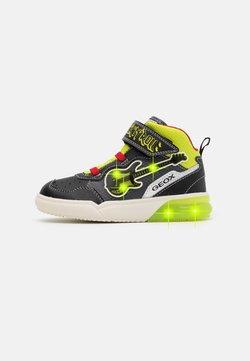 Geox - GRAYJAY BOY - Sneaker high - black/lime