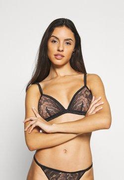 Calvin Klein Underwear - BLOOM FLORAL UNLINED TRIANGLE - Biustonosz z trójkątną miseczką - black