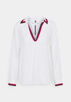 Tommy Hilfiger - POPOVER BLOUSE - Camicetta - optic white