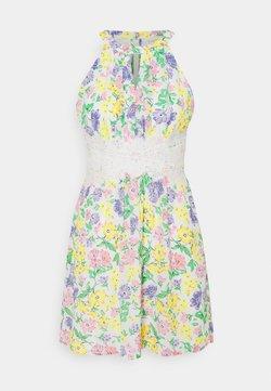 VILA PETITE - VIMILINA FLOWER DRESS PETITE - Freizeitkleid - snow white