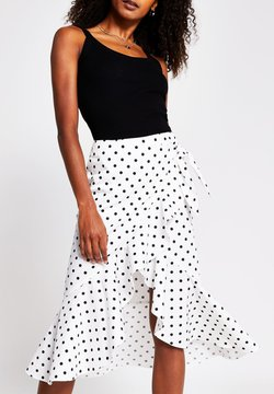 River Island - Jupe portefeuille - white